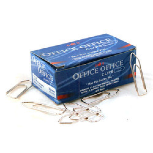 Bright Electro nickle plated office clip